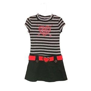 Girls heart dress